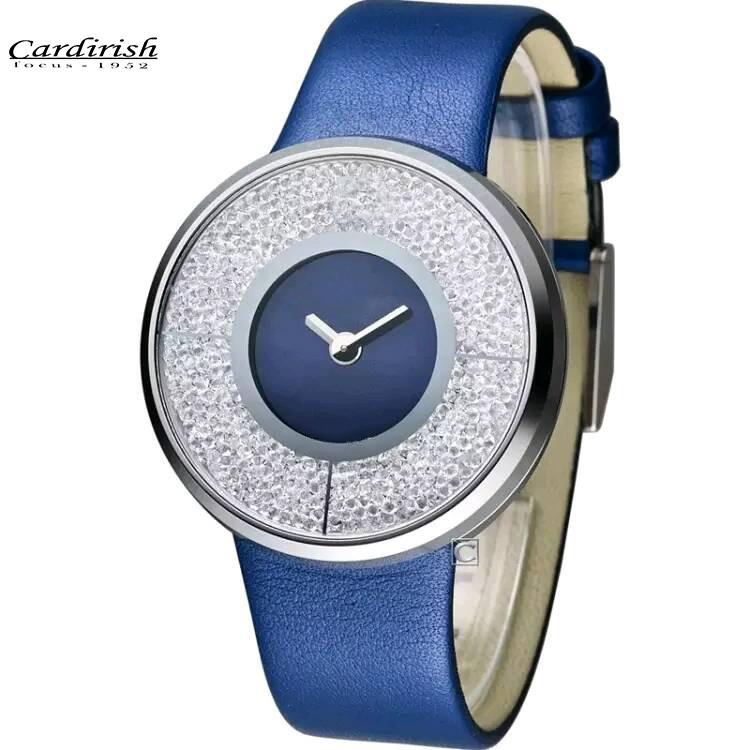 2016 Новая Мода Известный Бренд Часы Люксовых Брендов Моды, Первой Женщины Натуральная Кожа Кварцевые Часы Кристалл лебедь часы