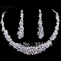 Hot sale Gorgeous crystal bridal jewelry sets rhinestone wedding jewelry sets amazing jewelry sets for bride wholesale