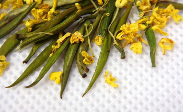 8.8oz/250g Fragrant Osmanthus Que She, Super Tender Green Tea,Birds Beak Tea,CLQ03g,Free Shipping<br><br>Aliexpress