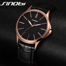 Buy Fashion Business Casual Watch Japan Quartz Men Gentalman Minimalist trend leather Strap Wristwatch Simple Classic design SINOBI for $14.88 in AliExpress store