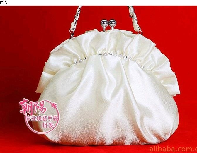 WB2358 2010 hot sale satin colorful and beautiful ladies' handbags evening bags party bags night bags wedding bags(China (Mainland))