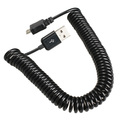 Spiral Coiled USB 2 0 A Male to Micro USB B 5Pin Adaptor Spring Cable 39