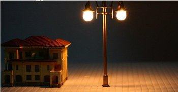 500pcs high quality HO scale mdoel lamp 1/100, copper lamppost for train layout