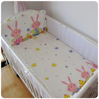 4pcs best sale baby crib pumper summer cotton print cartoon cute baby
