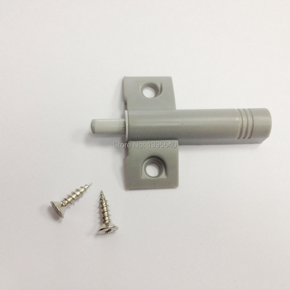 New Grey 10pcs Door Catches Closer With Front Base Damper Soft Closing Fittings Buffer Cabinet Open And Close System(China (Mainland))