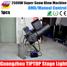 Flightcase Pack 2500W Stage Snow Machine Manual/DMX512 Control CE ROHS High Speed Blowing Fan 110V/220V Oil Suck Pump Jet 6-8m(China (Mainland))