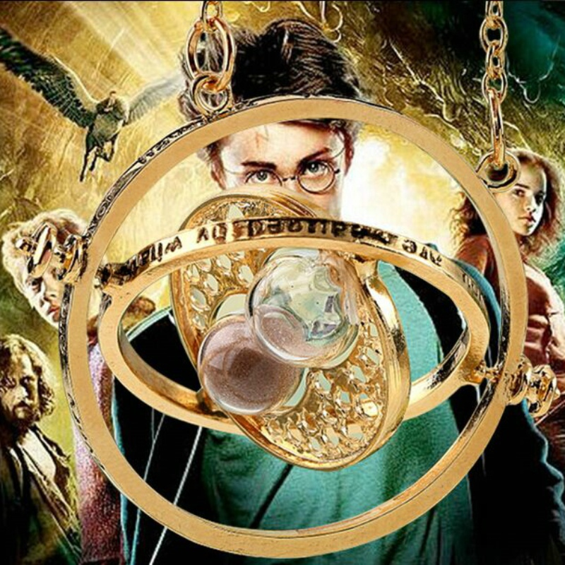 33pcs armillary sphere celestial globe Time converter Time travel machine Three movable circle Colorful sand Hourglass necklace(China (Mainland))