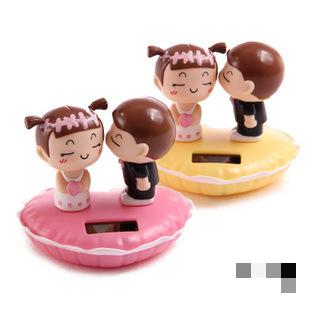 2016 Hot sale 1pc Kiss Lover Solar Doll Car Cute accessories shook his head doll car ornaments 2different color Free shipping(China (Mainland))