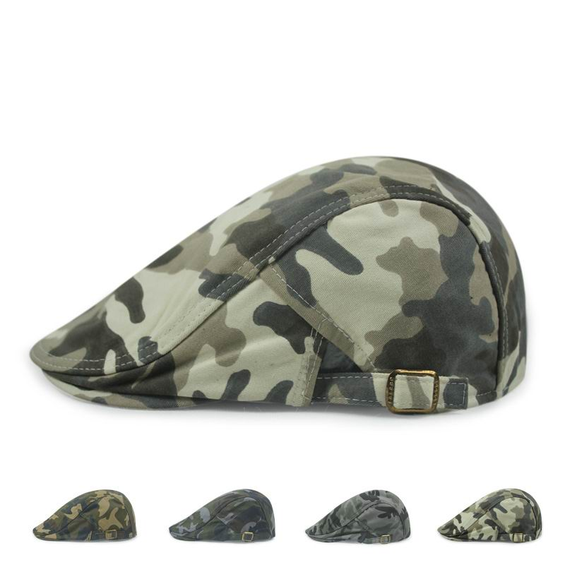 Unisex Camouflage Berets Fashion Male Spirng Beret Hip Hop Sport Cool Hat Man Summer Shade Camouflage Cap(China (Mainland))