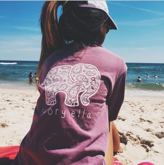 2017 Summer Elephant Tshirt Women Tops Tee Print Animal T-Shirt Kawaii Loose Long Sleeve Harajuku Tops Pocket Blusa Y201(China (Mainland))