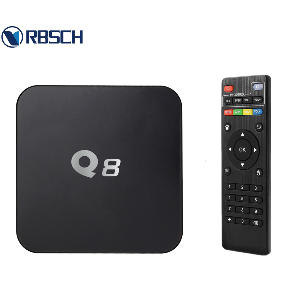 RBSCH Q8 Live Streaming Media Player Amlogic S805 Smart Android 4.4 TV BOX Quad core 1GB / 8GB 4K Google Android TV BOX(China (Mainland))