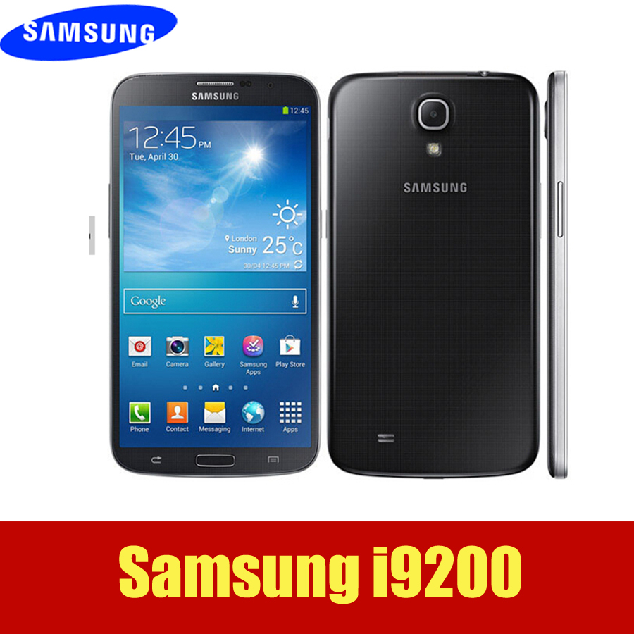 Unlocked Original Samsung Galaxy Mega 6.3 I9200 i9205 GPS 8.0MP 6.3 Inch TouchScreen 8GB Cell Phone One Year Warranty(Hong Kong)
