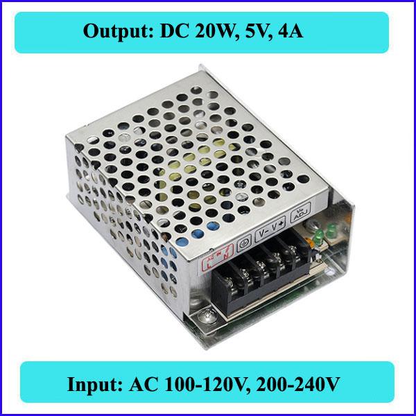 20W 5V 4A Switching Power Supply Mini size LED Transformer AC 110V 220V DC - QX Store store