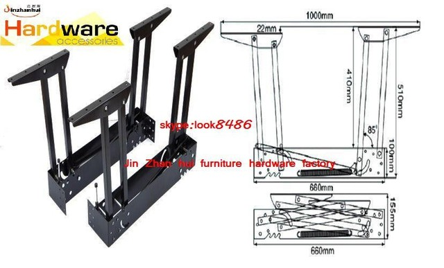 Factory direct sale B07 furniture hardware hinge multifunctional tea table