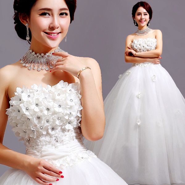Z 2016 New Stock Plus Size Women Bridal Gown Wedding Dress