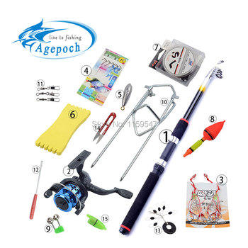 15 Accessories Portable Carbon Rod Combo Sea Fishing Rods And Reels Ocean Saltwater Fishing Baitcasting Telescopic Carp Tuna Set