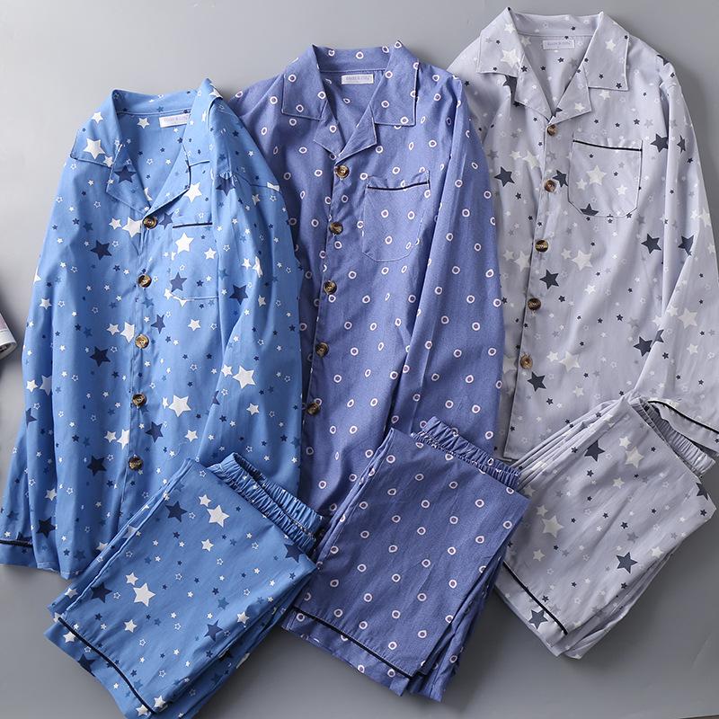 Для мужчин тканая пижамы из чистого хлопка мужские большого размера; пикантные IMG_7908