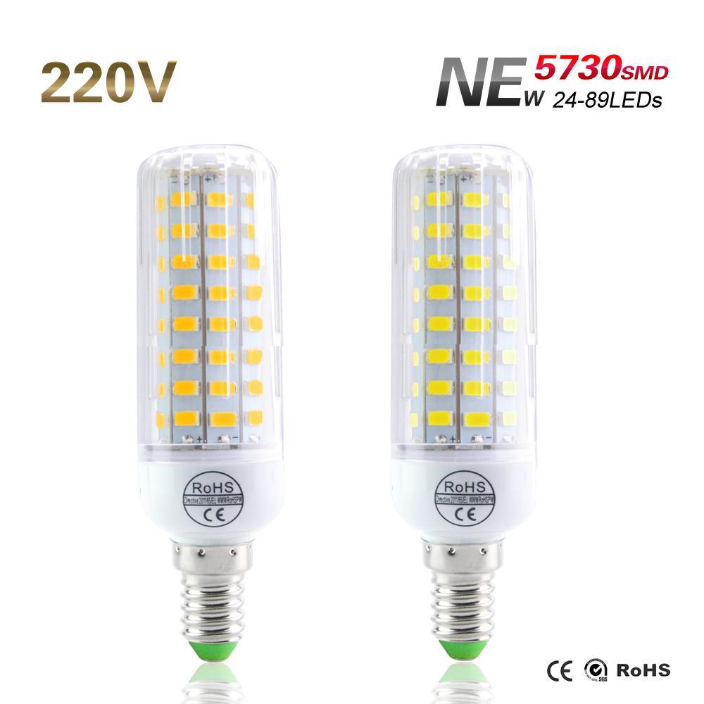 New 5730SMD Lampada Led Lamp SMD 5730 Led Bulb E14 Led Light 30Led 42Led 64Led 80Led 89Led White Warm White Led Spotlight Lamps(China (Mainland))