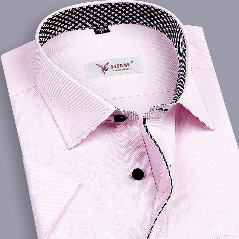 2015 China imported clothes Men s clothing Social slim fit camisas shirts Short sleeve shirt Brand