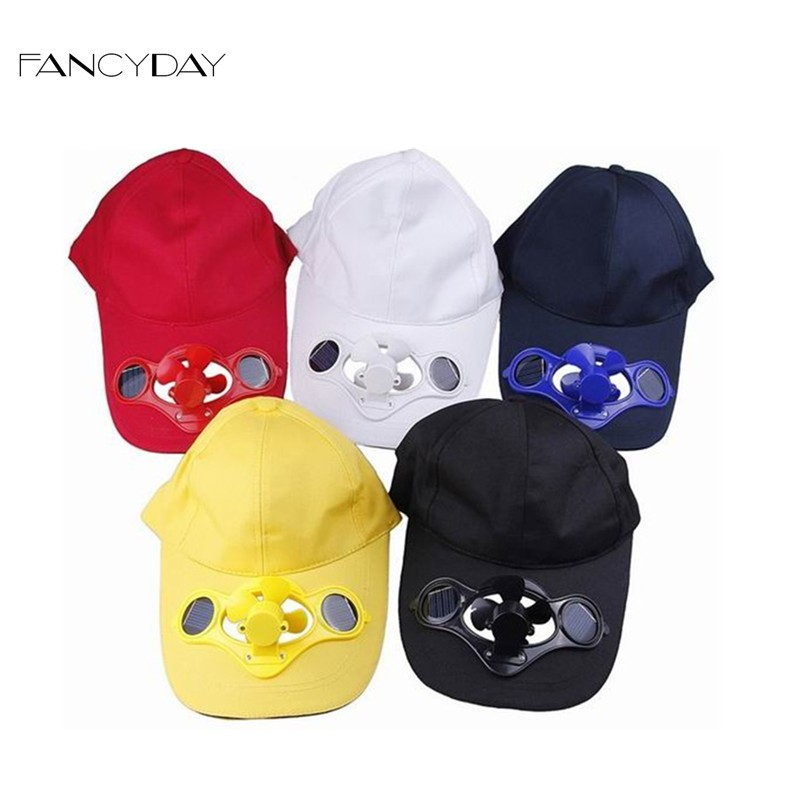 Colors Choose 2016 Summer Baseball Hat Cotton Cap Sport with Solar Sun Power Cool Fan For Golf Snapback Outdoor Free Shipping(China (Mainland))