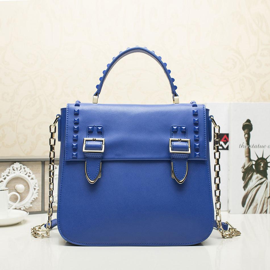 fashion brand bag women's handbag 2015 chain rivet  bag one shoulder cross-body women's handbag bag AD24