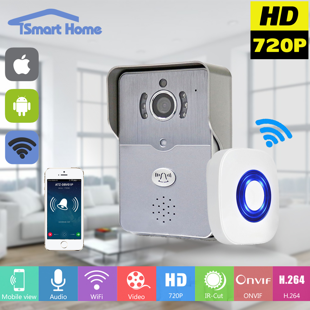 Wireless IP Doorbell With 720P Camera Video Intercom Phone WIFI Door bell Night Vision IR Motion Detection Alarm for IOS Android(China (Mainland))