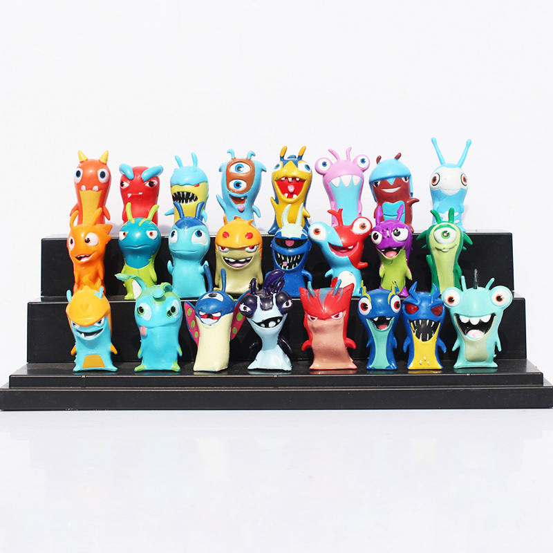 24pcs/set Cute Cartoon Slugterra PVC Action Figures Toys Free Shipping(China (Mainland))