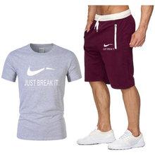 Новое поступление, повседневные мужские футболки + шорты, мужские футболки с 3d принтом, модные футболки с графическим принтом, футболки с яп...(China)