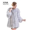 YCFUR Fashion Women Jacket Winter 2016 Natural Fox Fur Coats Women Luxury Real Fox Fur Jackets
