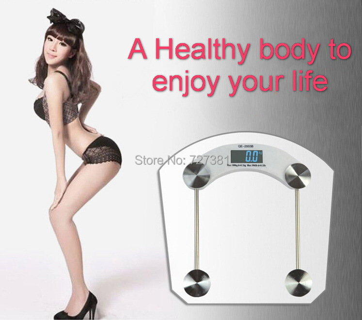 150KG 330Lb Personal Scale Safety Toughened Glass LCD Body Weight Watcher Health Fitness Electronic Digital Bathroom US Stock(China (Mainland))