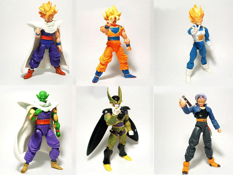 Details about Lot 6 DBZ Dragonball Z Dragon ball Anime Joint movable Action Figure Toy JXK(China (Mainland))