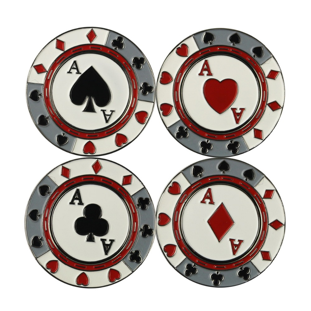 USA Dollar Symbol Sign Golf Poker Chips Ball Marker Poker Cards Ace Club for Golf Tournament(China (Mainland))