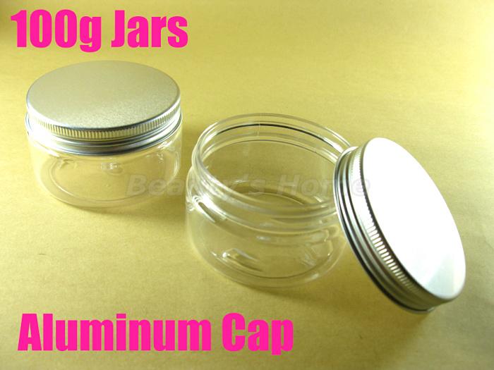 100g Aluminum Cap jars cosmetic cream make jar refillable bottle Empty Bottle #1952 - Packing Supplier(Bottles and Jars store)