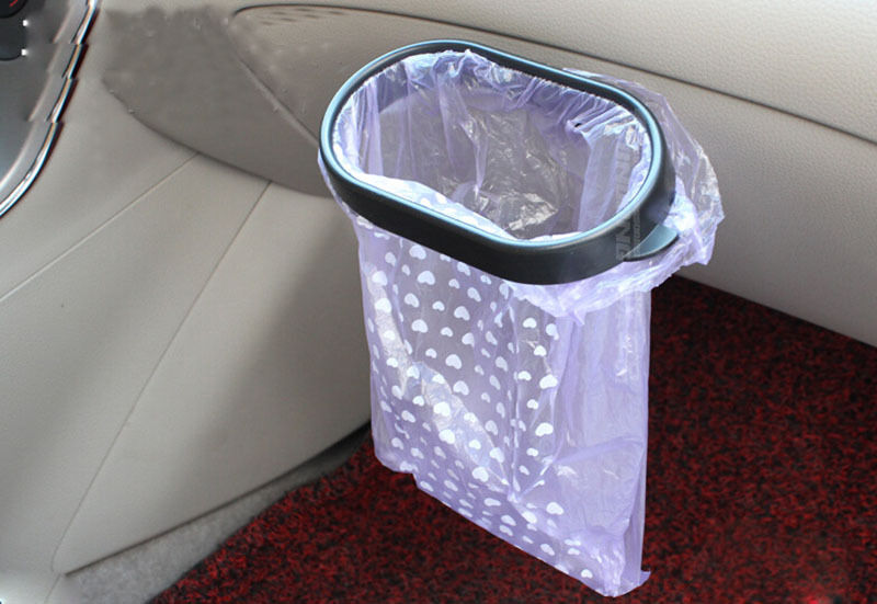 1PCS Black Car Auto Vehicle Plastic Backseat Trash Bag Frame Garbage Holder(China (Mainland))