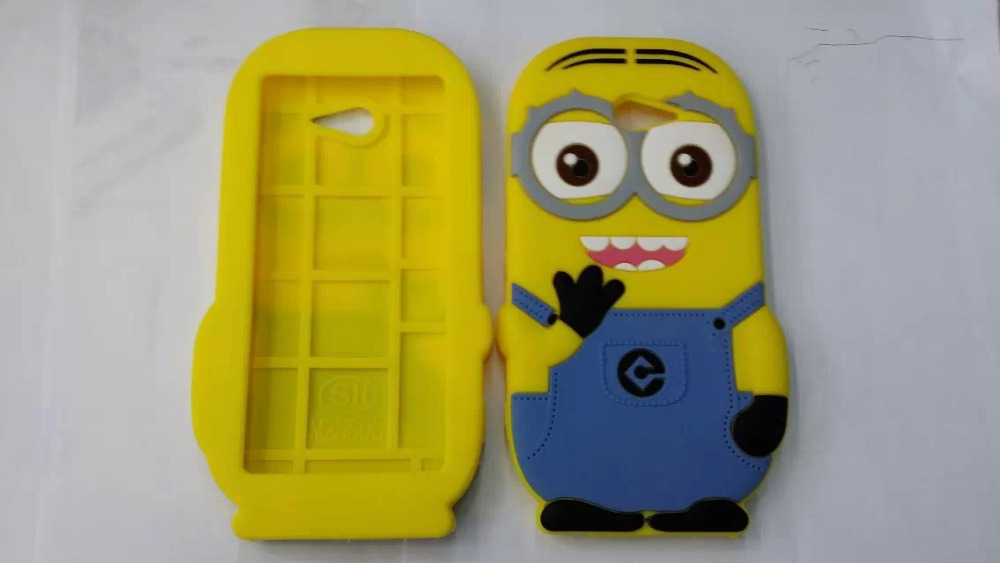 Sony Xperia M2 S50H 3D Despicable 2 Yellow Cute Protective Soft Silicone Rubber Back Phone Cases Cover - Fashion Store( store)