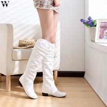 2018 Ince Çizmeler Seksi Diz Üzerinde Yüksek Süet Kadın Kar Botları kadın Moda Kış Uyluk Yüksek Çizmeler Ayakkabı kadın Nov28(China)