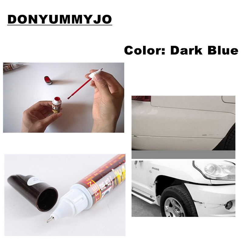 1pc Hot Sale 12ml Dark Blue Professional Car Paint Repair Pen New Waterproof Clear Car Scratch Remover Painting Pens(China (Mainland))