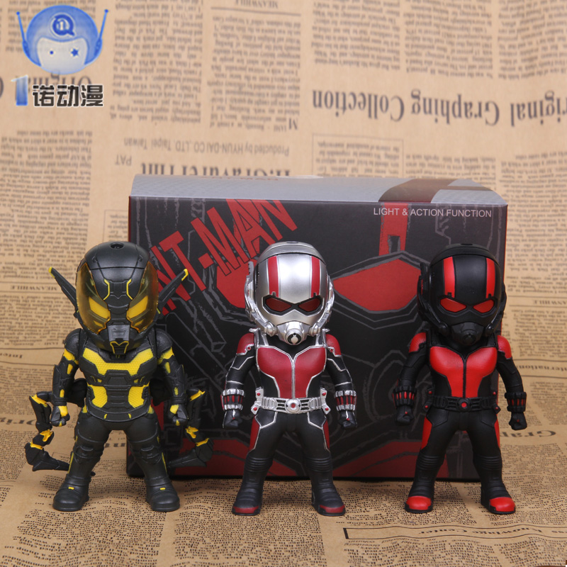 Фотография Marvel ant man model ANT-MAN Q edition doll set LED light ant Man Doll car decoration