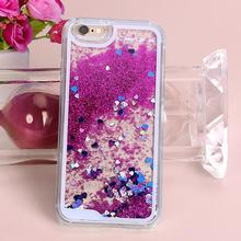 8 Colors Colorful Heart Glitter Stars Bling Dynamic Liquid Quicksand Case Cover For iPhone 5 5S