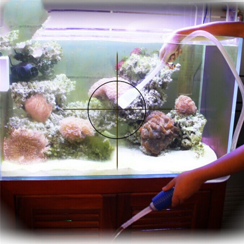 Aquarium Fish Tank Vacuum Pump Siphon Gravel Cleaner Wash Sand Trap Filter Water Change Tool Suction Pipe Tube Straw Brush(China (Mainland))