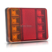2x Waterproof 8 LED Taillights Rear Tail Light DC12V for Trailer Truck Boat(China (Mainland))
