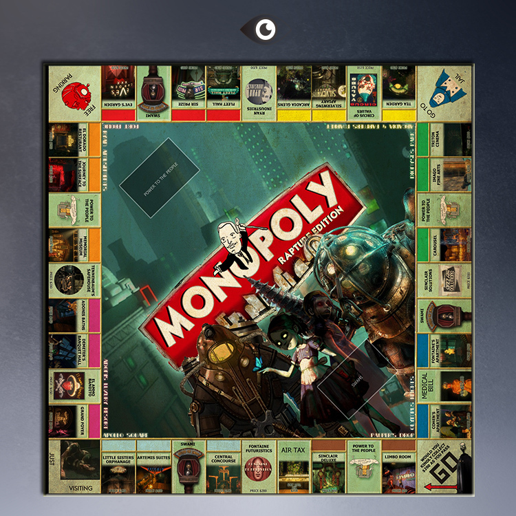 Bioshock monopoly board posters painting prints on canvas(China (Mainland))