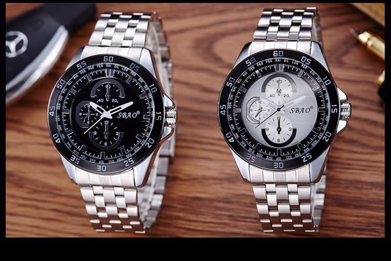 BOUNABAY ЧАСЫ Моды для Мужчин Автоматическая Кварцевые Большой Циферблат Часы Класса Люкс Аналоговый Водонепроницаемые Часы Datajust Бизнес Часы Высочайшее Качество