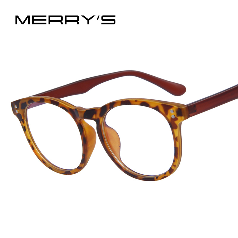 MERRYS Fashion Women Rivet Eyeglasses Men Rivet ...