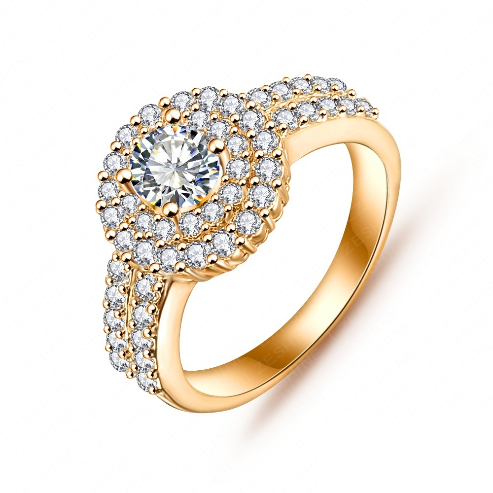 Elegant Queen Ring Real Platinum/18K Gold Plated Round Cut AAA Cubic Zirconia Inlayed Ring CRI0021(China (Mainland))