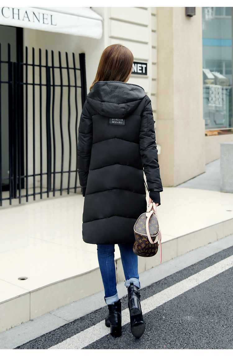 New Winter Down Cotton-padded Clothes With Thick Coat Of Cultivate One's Morality Ladies With Long Cotton-padded Jacket  Coats