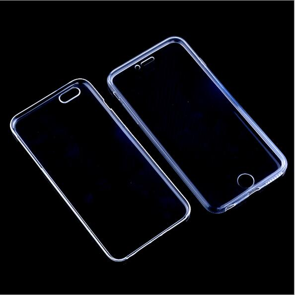Ultra Slim Crystal Clear TPU 360 Front+back Full Body Coverage Case For iphone 5s/SE 6/6S 6PLUS Skinny Case