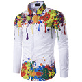 Fashion men s Street Style High Street long sleeved shirt high quality fashion casual shirt