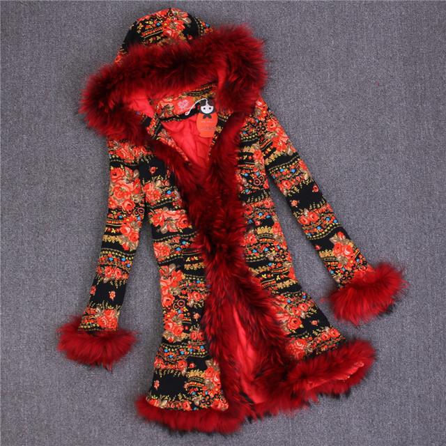 Женская Природа Кролик Шуба Куртка Енот Меховой Воротник Женщин Зимы Мех Траншеи Верхняя Одежда Пальто Casacos Femininos Abrigos Mujer