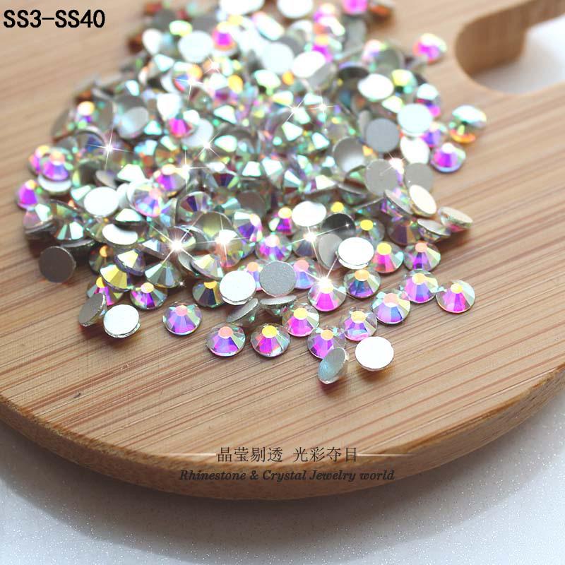 2016 super glitter Nail art rhinestones Crystal AB ss3-ss40 DMC Non HotFix FlatBack strass Nail art decoration rhinestones beads(China (Mainland))